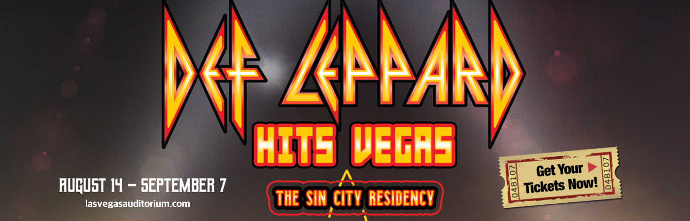 def leppard zappos theater