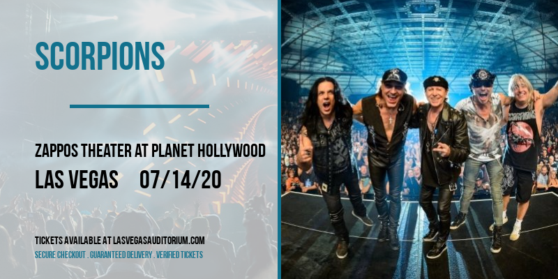 Scorpions [POSTPONED] at Zappos Theater at Planet Hollywood
