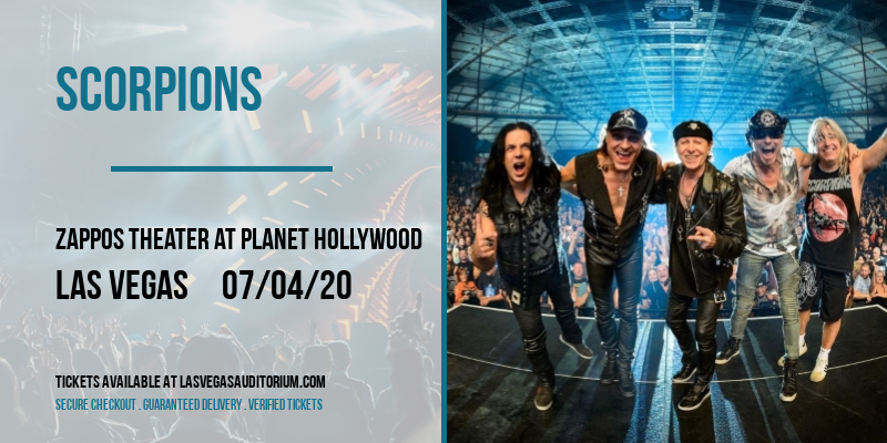 Scorpions at Zappos Theater at Planet Hollywood