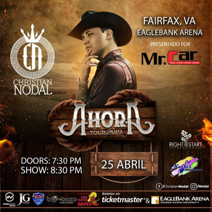 Christian Nodal at Zappos Theater at Planet Hollywood